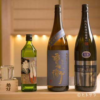 故郷の島田の地酒のみ。東京ではなかなか出会えない銘柄も