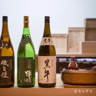 料理の邪魔をせず、飲み飽きしない4種の日本酒を厳選