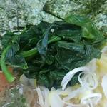 町田家 - ほうれん草と薬味のネギ。
