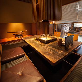 築80年の京町家を改装した、風情漂う店内。