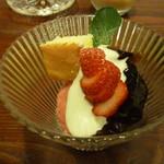 menu - 苺のソルベ