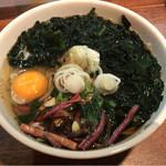 せね家 - 月見山菜若芽蕎麦¥500(17ー04)
