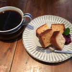 やさいとお酒  ひだまりカフェ - 甘酒のパウンドケーキと小豆茶