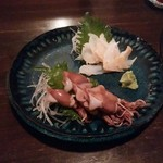 ととら - ホタルイカとバイ貝の刺身