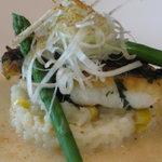 和×フレンチ 松原 - 明石鯛のポワレ 生姜のクリームソース
