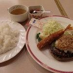 Minekurabumiyaki - ハンバーグ&海老フライセット