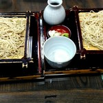 そば処 三津屋 - 料理写真:寒ざらしそば1080円×2