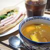 kohuku Sengawa - 料理写真:本格バインミー! レバーペースト&ポークハムサンドと自家製7daysベーコンと季節野菜のスパイシースープカレー