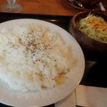 かのん - ご飯とサラダ^^