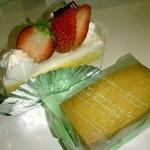 洋菓子屋 メロウズ - イチゴショートケーキとレーズンバターサンド