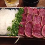 taishuubanikusakabafujiyama - 馬刺しのたたき(税別980円)
