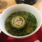 66180620 - 日替ベトナム定食(税込950円)                       [スープ]ゴーヤのスープ                       (正式名は失念)