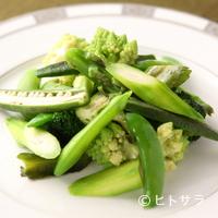 錦水 - シャキシャキの野菜の食感が楽しめる『四季野菜あっさり塩炒め』