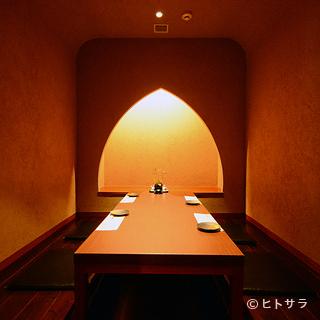 「くつろぎ」をコンセプトにした個室で過ごす、至福の時間