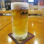 ヌアサヤム - 生ビールはアサヒスーパードライ