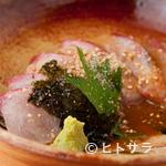 神楽坂 料理 やま本 - 日本酒との相性が抜群『しまあじの胡麻醤油』
