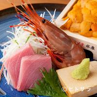 神楽坂 料理 やま本 - 本日のお刺身 5点盛り