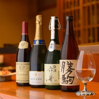 天富良の味を引き立たせている全国各地の日本酒