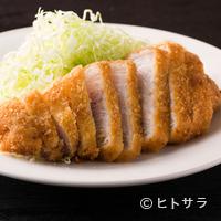 すぎ田 - 品があり、豚肉の素直な味わいが楽しめる『とんかつ ロース』