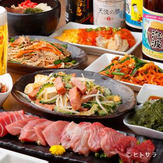 食材は全て沖縄より直送!本場の味わいに大満足