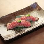 和牛の炙り寿司2貫