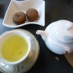 茶廊・葉風泰夢 - お煎茶セット マカロン