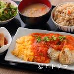 沖縄大衆酒場 島人 - ボリュームたっぷり『ランチ 日替わり定食』