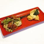 回鍋肉と帆立貝のピカタレモンバターソース
