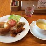 カフェふろーと - ベーグルランチBセット500円