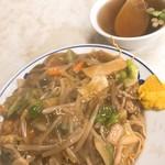 三友軒 - かた焼きそば(650)※スープ付き