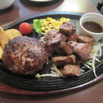 ハンバーグ・ステーキ宮崎亭 - 「宮崎産和牛ロースステーキコンボ」