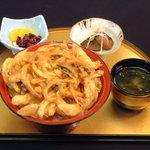 海鮮本陣 魚祭 - さざえかき揚げ丼