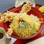 海鮮本陣 魚祭 - 海老天丼