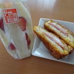 加藤仁と阿部守正の店 - 料理写真:ストロベリーサンド、クロックムッシュ