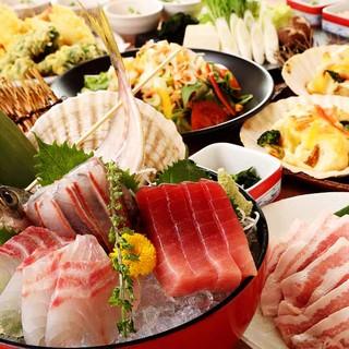 築地直送のお魚をふんだんに使用!鮮度の違いが分かります。