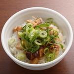 らーめん銀杏 - 塩ダレ豚御飯 250円