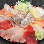 魚がし食堂 中央市場店 - 日替り得盛てんこ丼