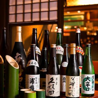 こだわりの日本酒は13種類ご用意しております。