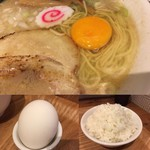 フジヤマゴーゴー - サービスの生卵にご飯