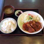キッチンハウスマスダ - チキンカツ定食  ¥750