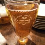 ビストリア - まずは生ビールで乾杯