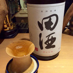 大阪モノラル - 日本酒「田酒」(600円)。青森の酒。