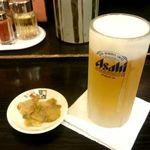 喜多方ラーメン 小法師 - 生ビール:520円