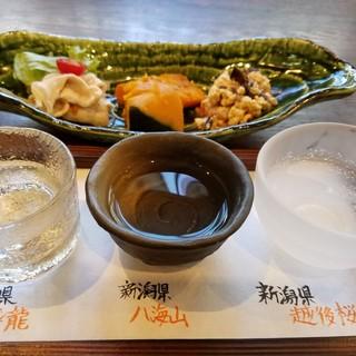 月替わり!日本酒飲み比べ☆