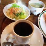 エヴァンス - ブレンドコーヒー・サラダ・味噌汁