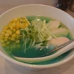吉法師 - 鶏清湯青トウモロコシ900円