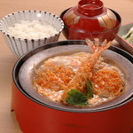 かつ辰 - 海老ひれかつ鍋
