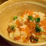 串駒 - いしりみぞれ鍋@6,900円(3人前):締めの雑炊