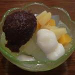 甘味喫茶 ナラタージュ - 料理写真:白玉フルーツあんみつ