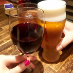 66234315 - 赤ワインで乾杯!